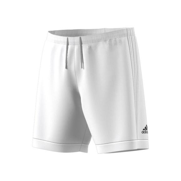 b08e893032 Adidas White Soccer Shorts Climalite 3 Stripes NWT